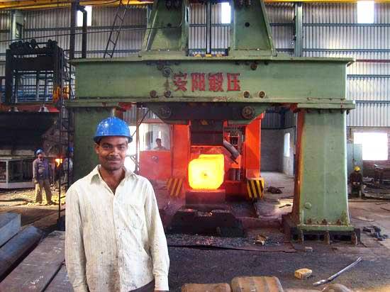 5吨自由锻电液锤在印度