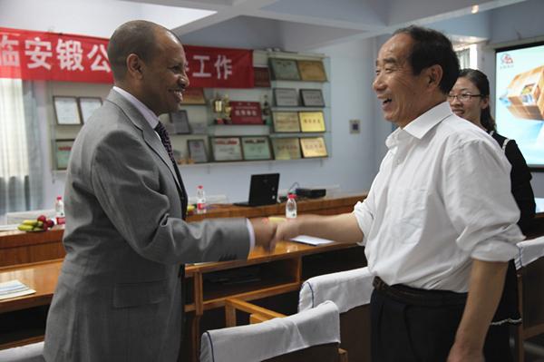 埃塞俄比亞使館人員來訪我公司