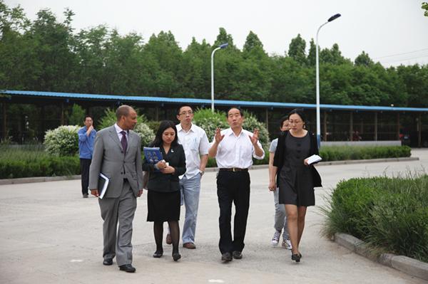 安陽鍛壓接見埃塞俄比亞使館人員