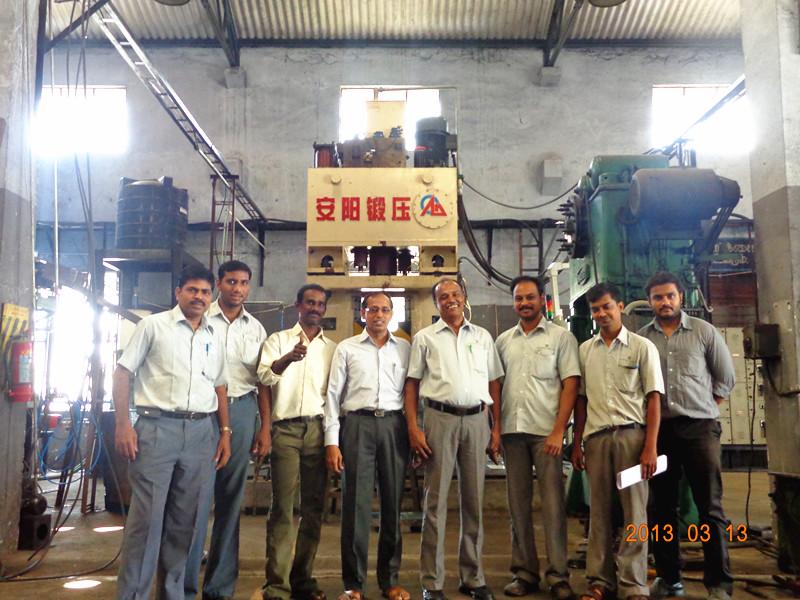 数控锤客户案例-16KJ出口印度锻汽车锻件