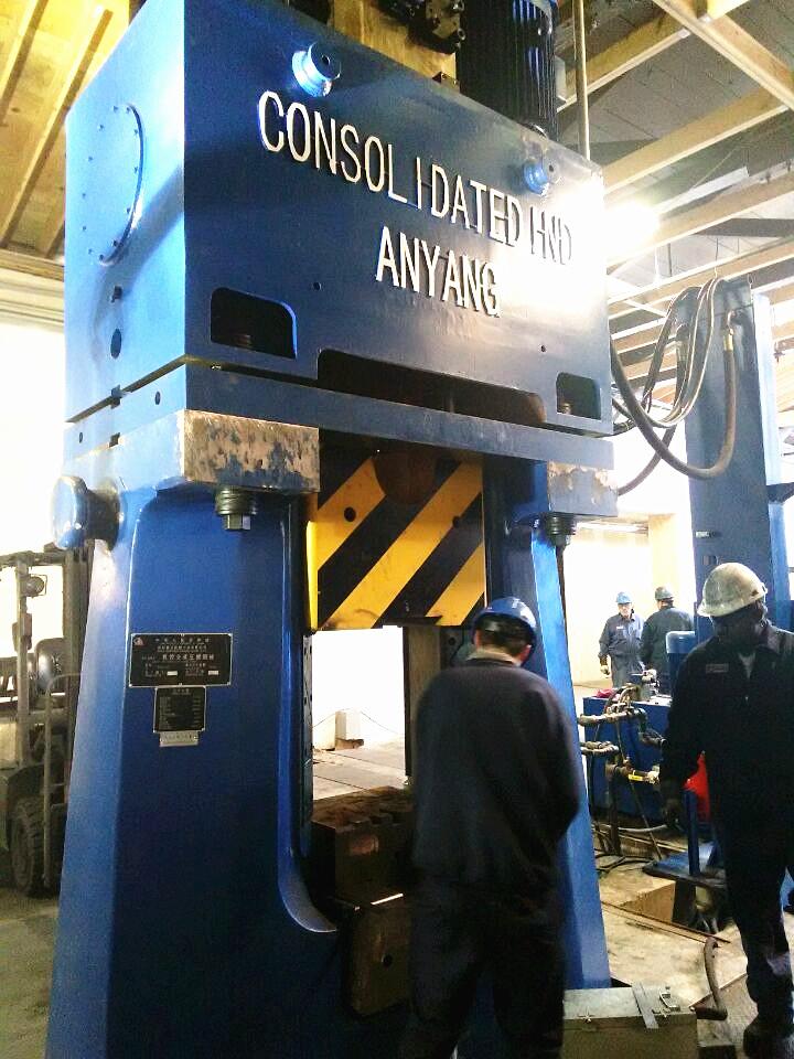 数控锤客户案例-31.5KJ CNC精密模锻锤出口到美国