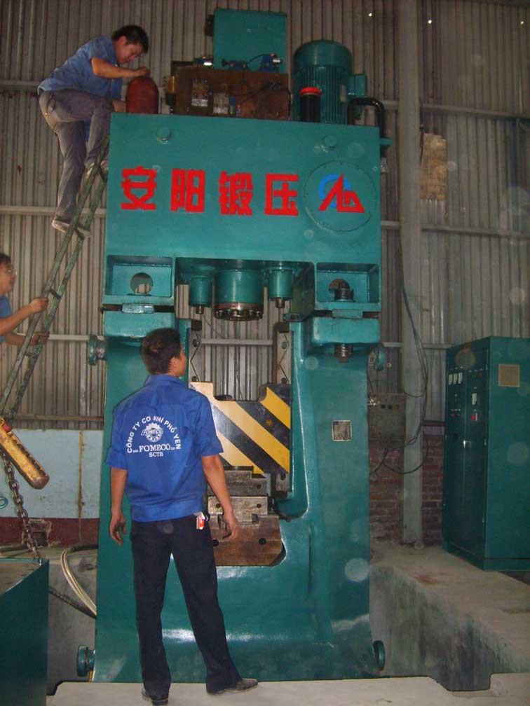 数控锤客户案例-16KJ数控全液压模锻锤出口到越南