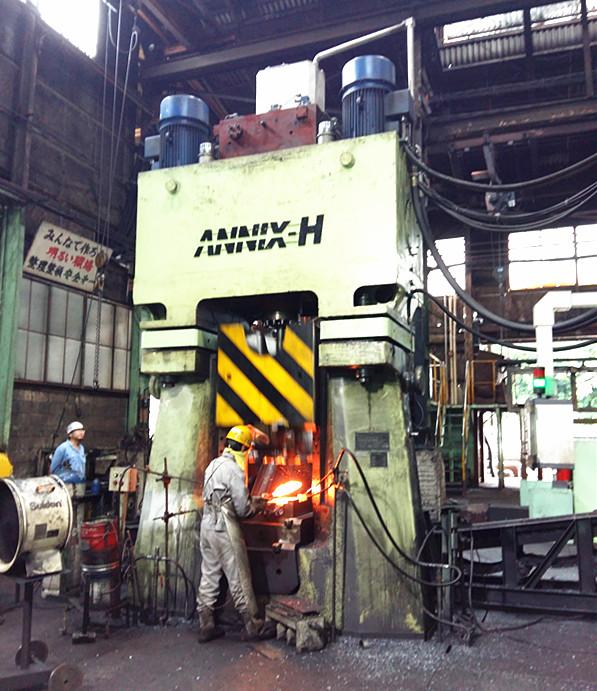 数控锤客户案例-63KJ数控全液压模锻锤出口到日本