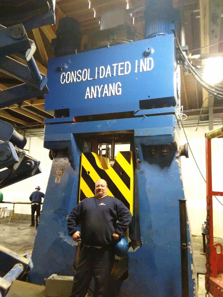 数控锤客户案例-80KJ数控全液压模锻锤出口美国