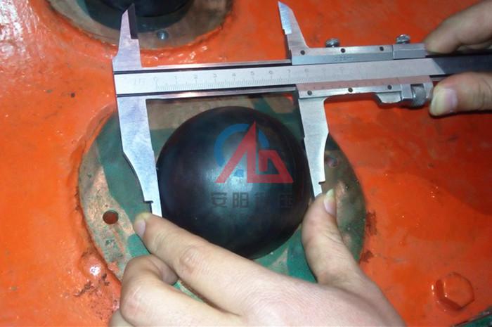 轧制钢球质量