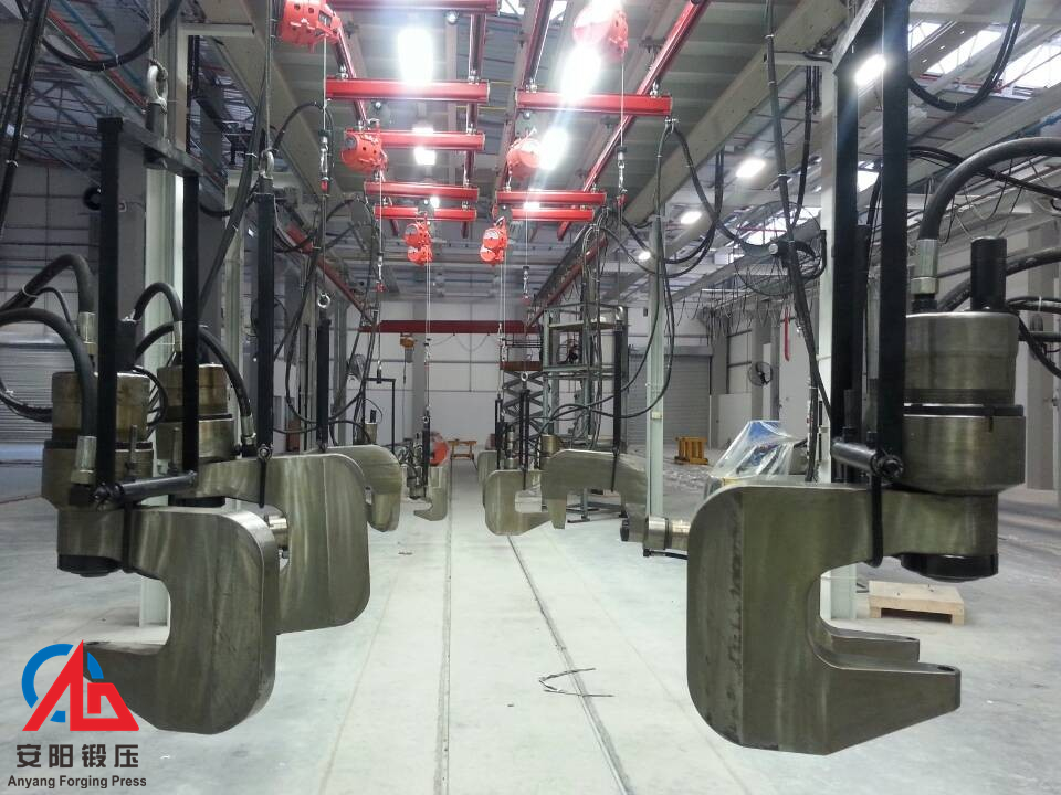 数十台油压铆接机生产线出口南非