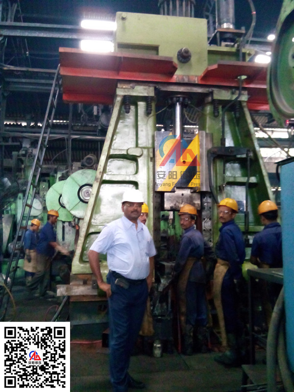 6吨模锻锤出口印度yabo亚博体育汽车锻件