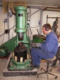 150KG air hammer forge steel balls
