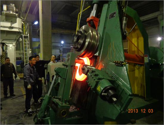 高效环件立式轧环机出口土耳其