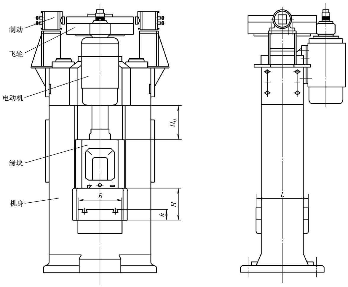 电动螺旋压力机结构原理